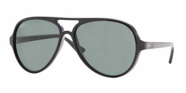 RAY BAN ICONS 4125 CATS 5000 RB4125 601 NOIR CRYSTAL GREEN - RB 4125 601 f1d9bd12e826